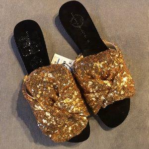 zara sequin slides sandals